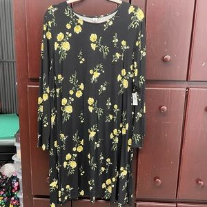 Old Navy - Black and Yellow Floral Dress